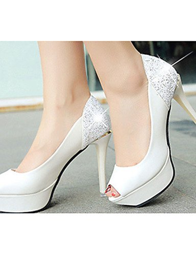 mujer uk3 cn39 eu39 Zapatos de uk6 Stiletto Blanco Rojo us5 us8 Tacones red red cn39 Negro black ZQ uk6 Tacones eu35 Casual PU cn34 us8 eu39 Tac¨®n EfqHnEwa4