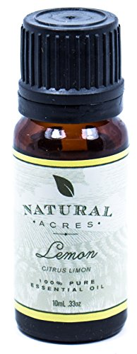 Lemon Essential Oil - 100% Pure Therapeutic Grade Lemon Oil by Natural Acres - 10ml