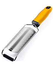 Citrus Zester Cheese Grater, Professional Stainless Steel Razor-Sharp Blade with Protective Cover, Ergonomic Soft Grip Handle, Parmesan Cheese,Lemon,Lime,Ginger,Chocolate,Fruits,Garlic,Kitchen Tool Dishwasher Safe