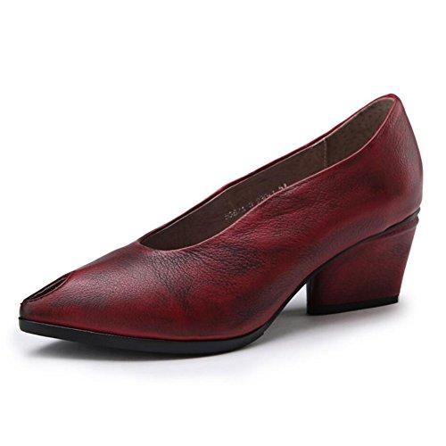 National En Tongs Chaussures Une pantoufles Conduite Style Mocassins De Sandales Slip Xue Marche Et ons Respirant Pour amp; Printemps Cuir Bureau été Femmes ZdYUYwq
