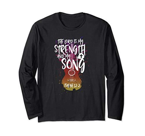 Unisex Christian Music Guitar T Shirt Church Band Love Long Sleeve Large Black -