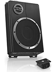 Sound Storm Labs LOPRO8 Amplified Car Subwoofer - 600 Watts Max Power, Low Profile, 8 Inch Subwoofer, Remote Subwoofer Control, Great for Vehicles That Need Bass But Have Limited Space