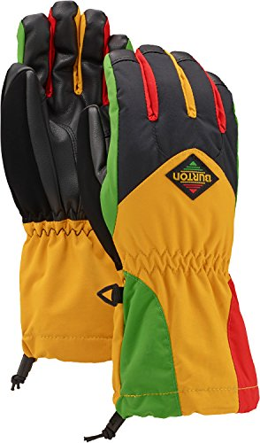 (Burton Kids' Insulated, Warm and Waterproof Profile Gloves with Touchscreen, Rasta, Large)