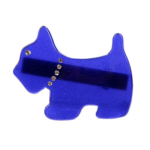 (OLIJU Tortoiseshell Hair Wholesale Boutique Hairpin Spring Clip Size Number Brown Dog Edge Clamps (Solid Blue)