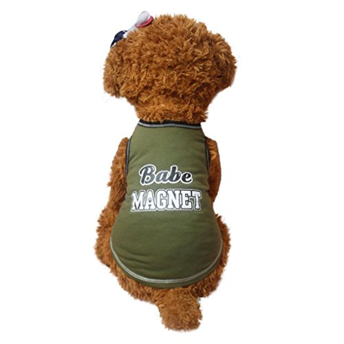 New Fashion Summer Sporty Pet Puppy Small Dog Cat Pet Vest, Ninasill Exclusive Babe Magnet Shirt Apparel Clothes