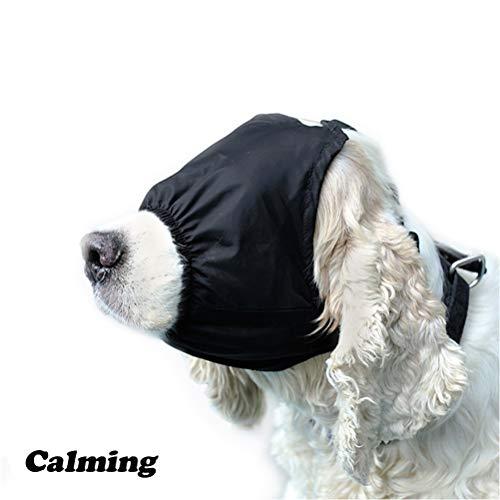 - Yu-Xiang Dog Calming Cap Pet Eye Mask Nylon Shading Anxiety Mask Muzzle Dog Blindfold for Grooming Anti Bite Anti Car Sickness (XL)