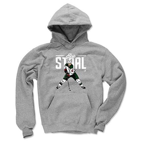 500 LEVEL Eric Staal Minnesota Wild Hoodie Sweatshirt (Large, Gray) - Eric Staal Retro G -