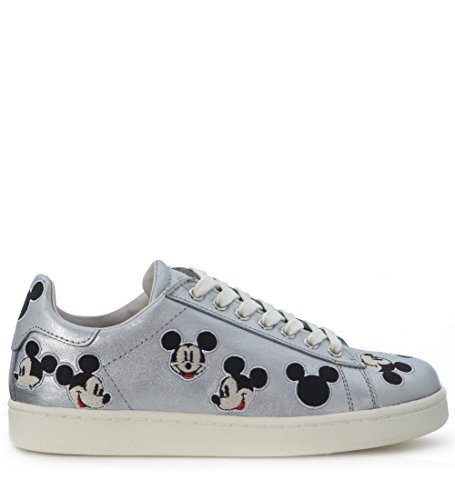 Mouse Moa Sneaker Læder Sølv Mickey qO7xt0v