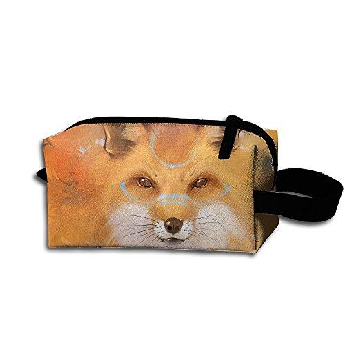 Makeup Cosmetic Bag Fox Pop Art Zip Travel Portable Storage Pouch For Men Women