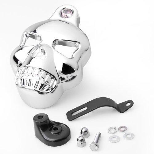 Motorcycle Chrome Skull Horn Cover For Harley Dyna Sportster Softail Glide Ultra Road King 1992-2012