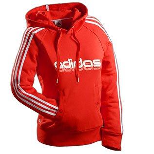 Neuer ADIDAS Damen Sweater mit Kapuze Hoodie Sweater Kapuzenjacke rot , 44 55857415a6