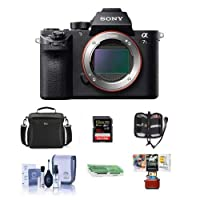 Sony Alpha a7S II Mirrorless Digital 4K Camera, Bundle with Camera Bag, 32GB SDHC U3 Card, Cleaning Kit, Memory Wallet, Card Reader, Mac Software Package