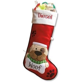 amazon com lillian vernon personalized pet dog fabric christmas
