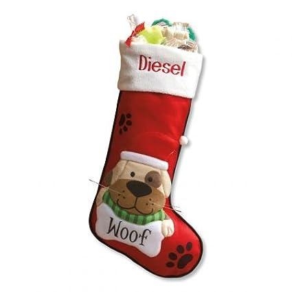 lillian vernon personalized pet dog fabric christmas stockings
