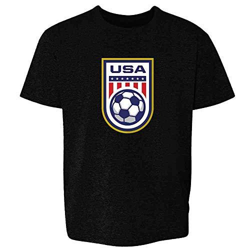 USA Soccer Team National Crest Girls or Boys Black 6 Toddler Kids T-Shirt