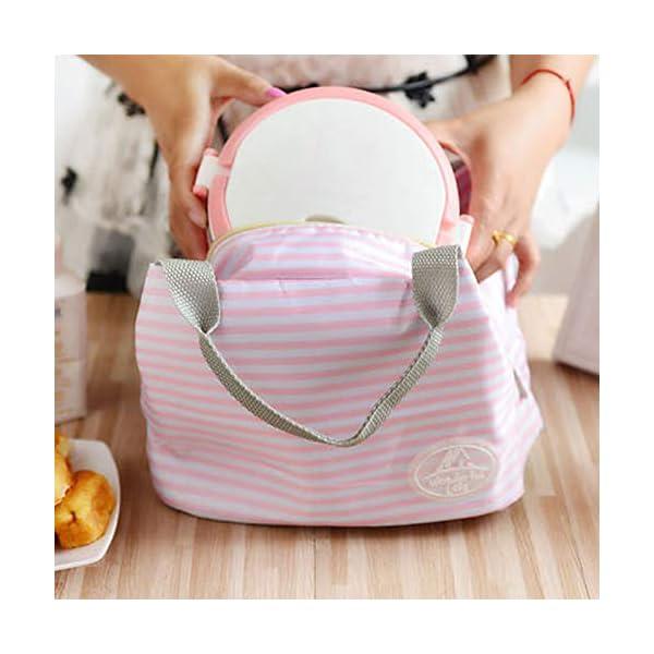 fablcrew Borsa a pranzo portatile borsa pasto Lunch Bag termica termico isolato per Ecole Ufficio Viaggio Picnic 6 spesavip