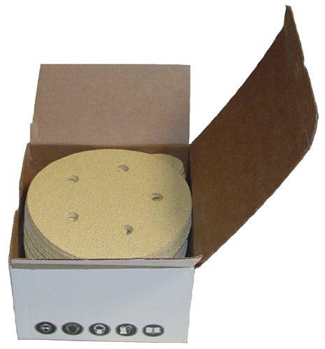 Magnate V55G28 Hook & Loop 5'' 5 Hole Discs - 280 Grit; 50 Discs/Pkg; C Weight