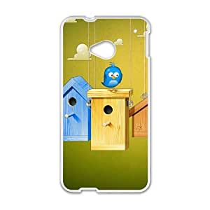 vector birdy 1920 13141801 HTC One M7 Cell Phone Case White cover xlr01_7706076