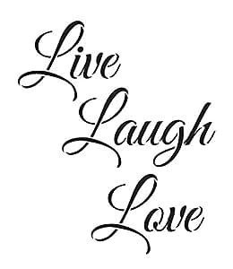 Download Amazon.com: Live Laugh Love Stencil by StudioR12 | Trendy ...