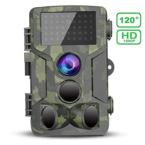 VICTONYUS Trail Game Camera 1080P HD IP65 Waterproof Scouting Camera, 120°Wide Angle PIR Sensor Motion Activated Night Vision Hunting Camera for Wildlife & Home (New Version)