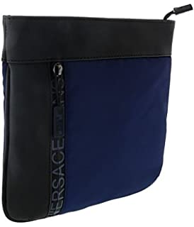 70402218ef Amazon.com  Versace EE1YSBB12 E899 Black Messenger Bag for Mens  Shoes