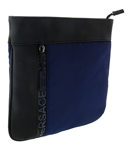 e084379e5f92 Image Unavailable. Image not available for. Color  Versace EE1YSBB32 E240 Prussian  Blue Messenger Bag ...