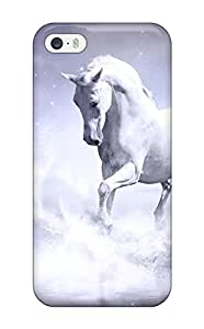 Hot DXEcNof12416UHldG Case Cover Protector For Iphone 5/5s- White Horse