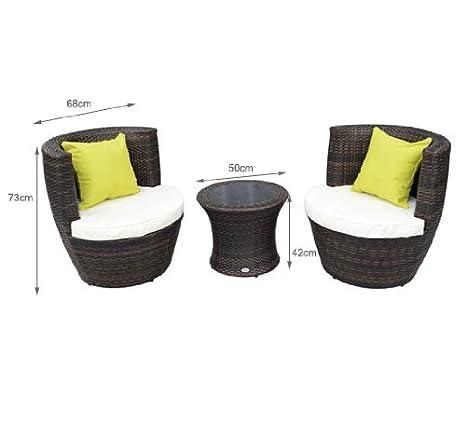 HOMCOM 44 - Conjunto de sillones y Mesa para jardín (Resina ...