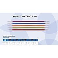 NEUHEIT Knit Pro Nadelspiel 15 cm, ZING, aus Aluminium, versch. Nadelstärken