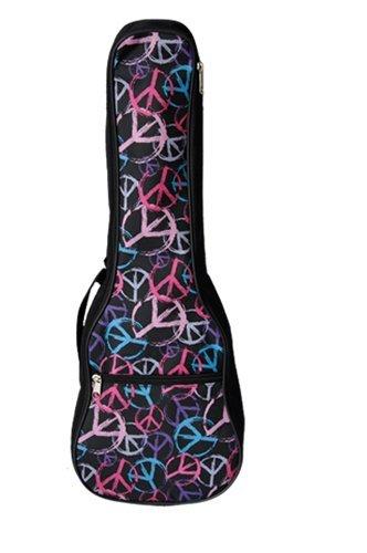 Woodi USA Soprano Ukulele Gig Bag with Peace Painting WUC-21BPC