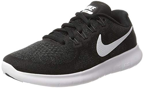Nike Women's Free RN 2017 Running Shoe Black/White/Dark Grey/Anthracite Size 8.5 M US