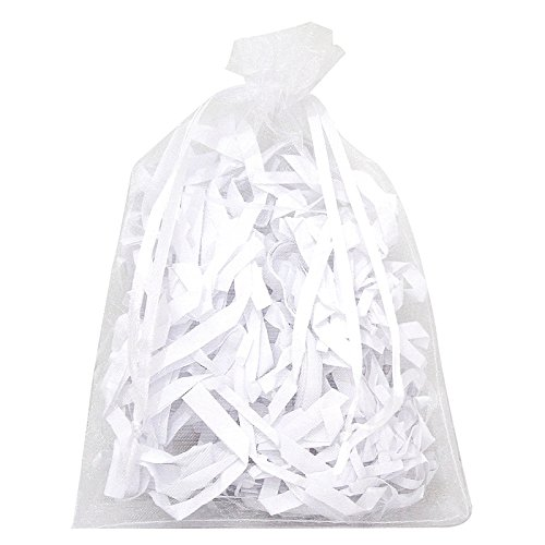 Cikuso - Lote de 100 Bolsas Grandes de Organza Blancas ...