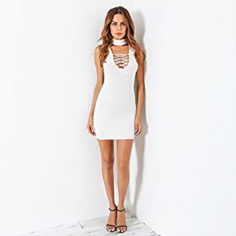 Vestidos Ropa De Moda Para Mujer De Fiesta Sexys Cortos y Noche Blancos Elegante Casuales at Amazon Womens Clothing store: