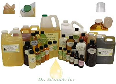 Organic Pure Carrier Oils Cold Pressed 16 Oz/1 Pint by Dr Adorable Inc