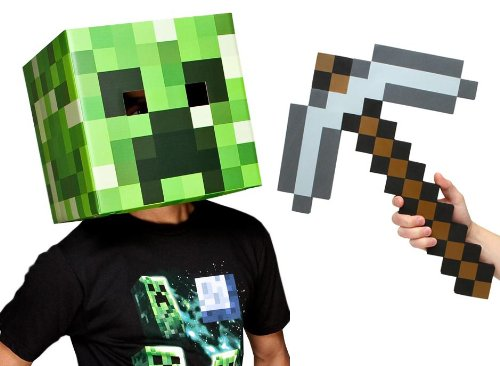 Minecraft Creeper Head Costume (Minecraft 12