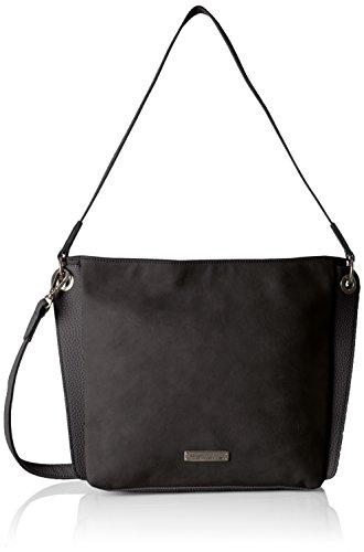 Tamaris Giusy Hobo Bag S - Shoppers y bolsos de hombro Mujer Negro (Black Comb.)