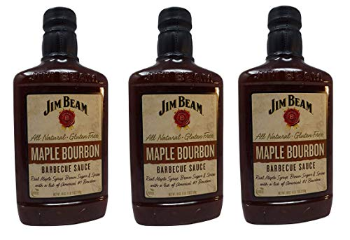 Jim Beam Barbecue Sauce 18oz Bottle (Pack of 3) Select Flavor (Maple Bourbon)