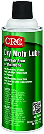 CRC Dry Moly Lube, (Net Weight: 11 oz.) 16 oz Aerosol Can, Dark Gray