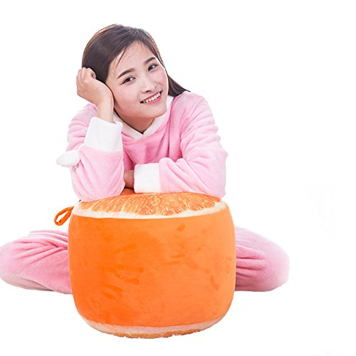 Inflatable Chair, Botitu Funny Fruit Design Inflatable Stool Bearing 220 lb Bean Bag Chair for Adults, Teens and Kids, Perfect for Indoor and Outdoor Use Inflatable Seats(orange)+free inflator