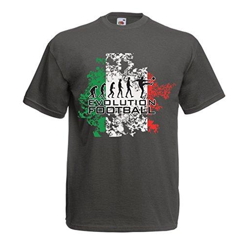 lepni.me Camisetas Hombre Evolución del Fútbol - Italia ...