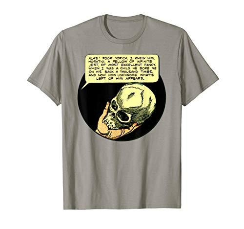 Shakespeare TShirt-Poor Yorick Shakespeare Hamlet Shirt