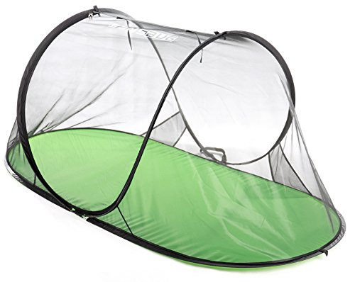 SANSBUG 1-Person Free-Standing Pop-Up Mosquito-Net (All-Mesh, Poly Floor)