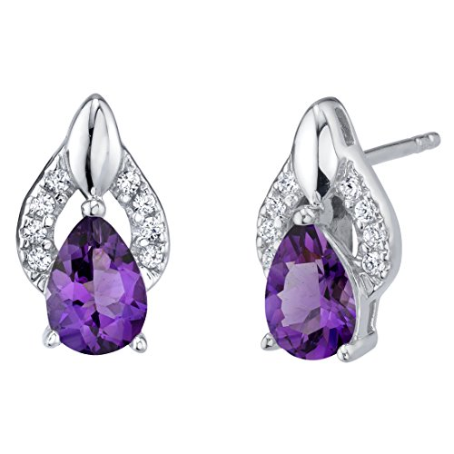 Sterling Silver Finesse Stud Earrings in Various Gemstones