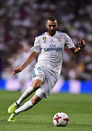 Desconocido Karim Benzema Real Madrid España la Liga Fútbol Póster ...