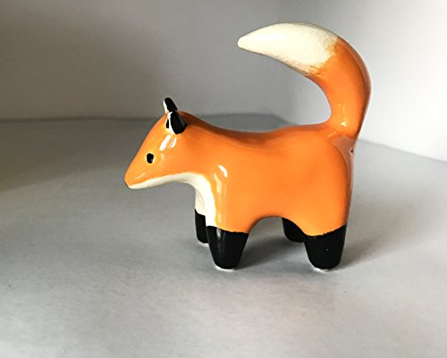 Hand Shaped Ceramic Fox Figurine