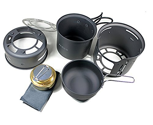 Aluminum Outdoor Portable Cookers Camping Pots Set For 1-2 Peoples - 7