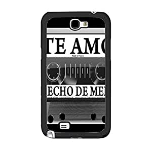 Classic Black and White Design Music For Case Samsung Galaxy Note 2 N7100 Cover CvO2AJn5gXv 2 Spain Love Song Radio Print Monogram cell phone Skin