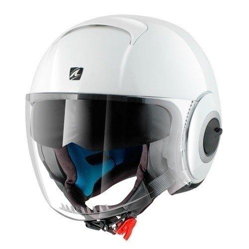 SHARK Nano Blank Motorcycle Helmets, White, Size S 359_9066