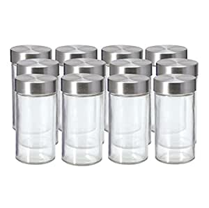 Amazon Com Kamenstein Set Of 12 Glass Spice Jars With