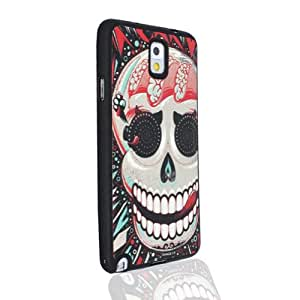 RedExtend29 Relief Unique Brain Skull Embossed Skin Back Cover Case For Samsung Galaxy Note 3 III N9000
